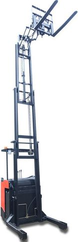 CQD12SSD-5500 - Pro 1.2t standing reach truck with double pantograph, sideshift & triplex 5.5m lift