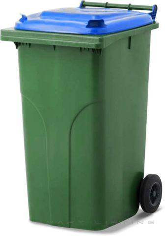 MGB240-CGB Complete Green/Blue 240L Mobile Garbage Bin - Europlast