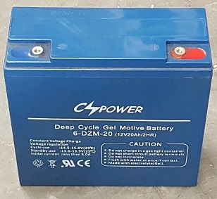 Battery, 21 A/hr gel, Simpro 6-DZM-20