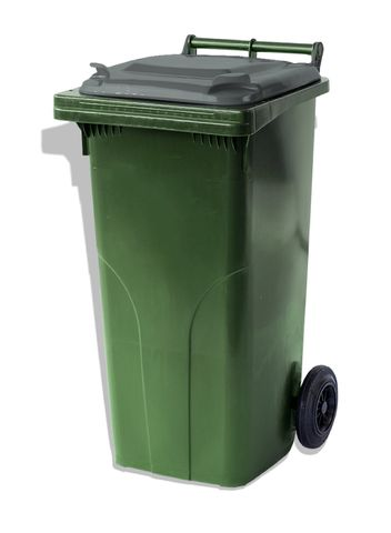 MGB120-CGGR Complete Green/Grey 120L Mobile Garbage Bin - Europlast