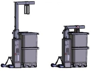 *Foodmove: Stainless Steel Hydraulic Load Station (Press) for Foodcap Bins