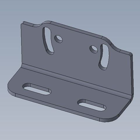 Microswitch mounting bracket, slotted 2.0mm PGI
