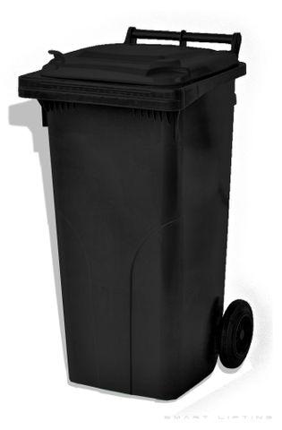 MGB120-CBLBL Complete Black/Black 120L Mobile Garbage Bin - Europlast