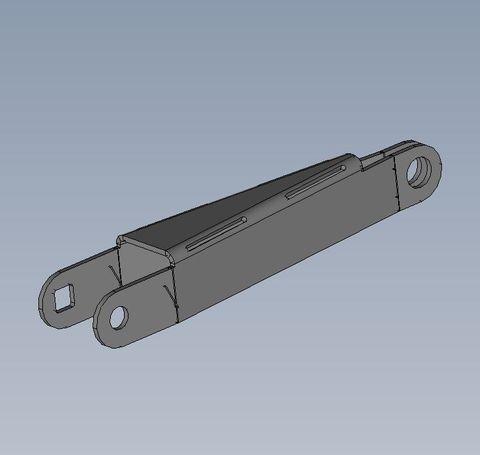 Gas strut plate 240/660/1100 lift-up door 2.0mm PGI