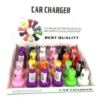 USB CAR CHARGER 2IN1 24PC/DISP