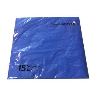 PKT15 3PLY NAPKIN - DARK BLUE 330X330MM