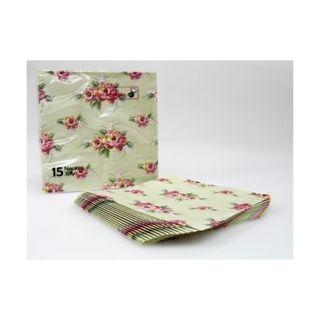 PKT15 3PLY NAPKIN - FLOWER 330X330MM