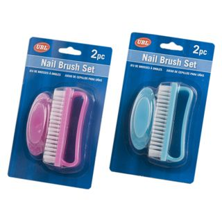 2 PIECE NAIL BRUSH PINK BLUE