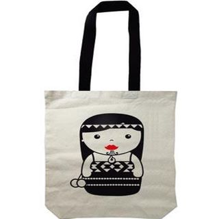 CANVAS BAG  MAORI GIRL 40X30CM