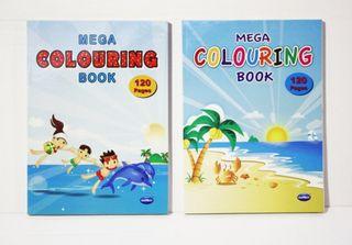 MEGA COLOURING BOOK 120 PGS 2 ASS TITLES