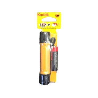 KODAK YELLOW LED FLASHLIGHT + AA BATTERY