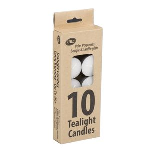 TEALIGHT CANDLES - 9 HOUR 23G - 10 PACK
