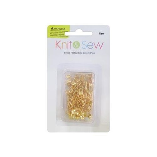 SAFETY PINS BRASS 22MM 50 PIECE