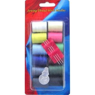 SEWING THREAD WITH NEEDLES 16 PIECE