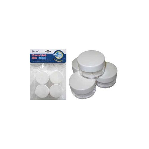 TRAVEL CONTAINERS 28ML 4 PIECE
