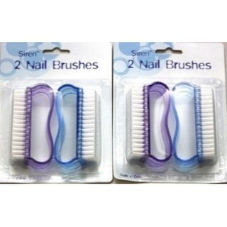 2 PIECE NAIL BRUSH PURPLE BLUE