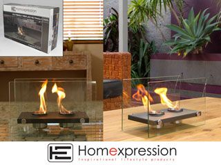 ECO FRIENDLY FIRE PLACE RECT 2 POT