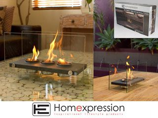 ECO FRIENDLY FIRE PLACE RECT 3 POT