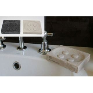 SOAP DISH GRANITE WHITE BLACK