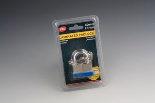 PADLOCK LAMINATED 40MM  WITH KEYS
