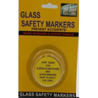 GLASS SAFETY MARKERS