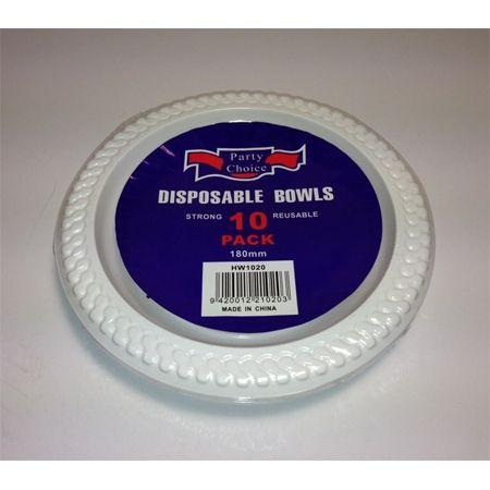 PLASTIC BOWLS 10 PACK