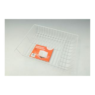 DISH DRAINER WHITE LAMINATE WIRE