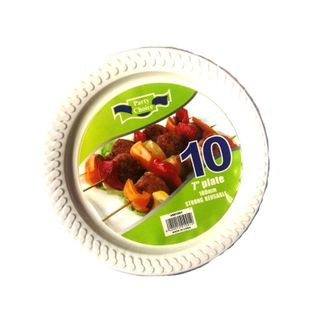 DISPOSABLE PLASTIC SIDE PLATES 10PACK