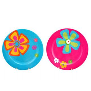 KIDS PLATE FLOWER ASSORTED COLOURS