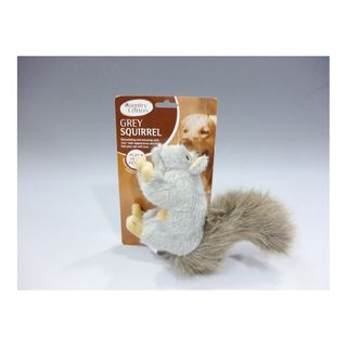 GREY SQUIRREL PET TOY