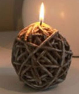 3 KNITTING BALL CANDLES