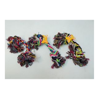 DOG COTTON ROPE BONE 18CM 4ASST