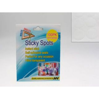 STICKY SPOT SEALS 100PK CLEAR 25MM