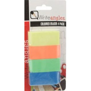 4 PC COLOURED ERASERS