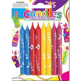 HAPPY BIRTHDAY CANDLES 8 PIECE