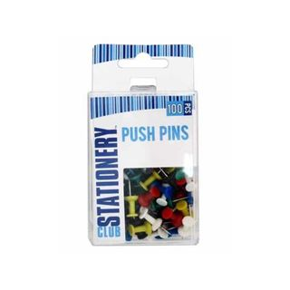 PUSH PINS IN PLASTIC BOX