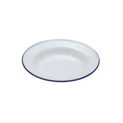 FALCON SOUP PLATE ENAMELWARE WHITE 22CM