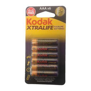 KODAK XTRALIFE ALK BATTERY AAA 6PK CTN12