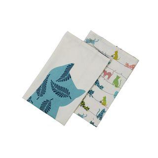 DEXAM Curious Cats Set of 2 Tea Towels