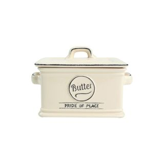 PRIDE OF PLACE CREAM BUTTER DISH