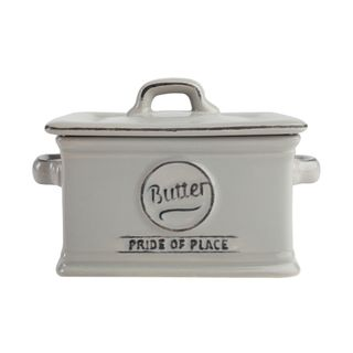 PRIDE OF PLACE GREY BUTTER DISH