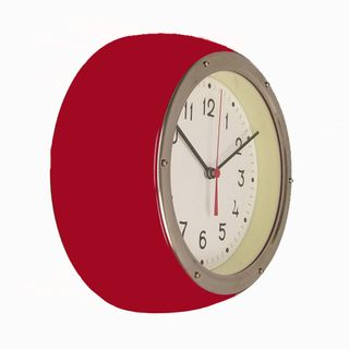 ZITOS BRIGHT RED WALL CLOCK