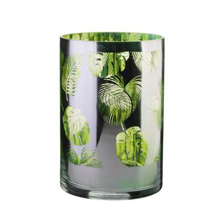 ARTLAND TROPICAL LEAVES HURRICANE LAMP