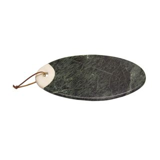 ZITOS OVAL BOARD GREEN/WHITE MARBLE