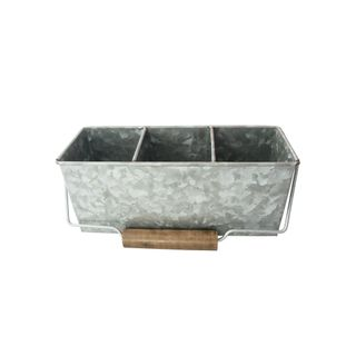 GALVANISED CADDY RECTANGLE 3 COMPARTMENT