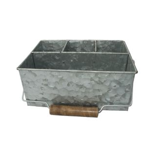 GALVANISED CADDY RECTANGLE 4 COMPARTMENT
