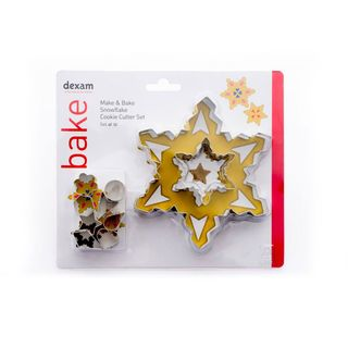 MAKE & BAKE SNOWFLAKE COOKIE CUTTER KIT