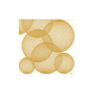 NAPKIN BALLS GOLD ON WHITE (3)