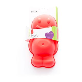DEXAM SILICONE JELLY BABY MOULD RED 20CM