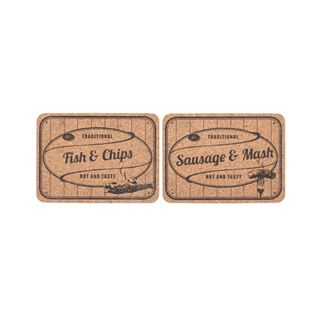 CORK TABLE MATS FISH N CHIPS